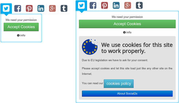 joomla social cookie policy
